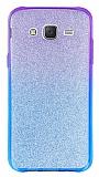Samsung Galaxy J5 Simli Mor Silikon Kılıf