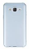 Samsung Galaxy J5 Tam Kenar Koruma Silver Rubber Kılıf