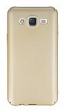 Samsung Galaxy J5 Tam Kenar Koruma Gold Rubber Kılıf