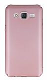 Samsung Galaxy J5 Tam Kenar Koruma Rose Gold Rubber Kılıf