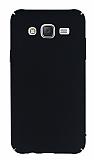 Samsung Galaxy J5 Tam Kenar Koruma Siyah Rubber Kılıf