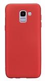 Samsung Galaxy J6 Mat Kırmızı Silikon Kılıf