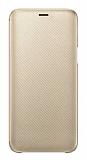 Samsung Galaxy J6 Orjinal Kapaklı Gold Kılıf