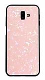 Samsung Galaxy J6 Plus Desenli Silikon Kenarlı Pembe Rubber Kılıf