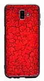 Samsung Galaxy J6 Plus Marble Kırmızı Silikon Kılıf