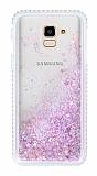 Samsung Galaxy J6 Simli Sulu Pembe Rubber Kılıf