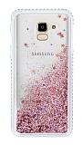 Samsung Galaxy J6 Simli Sulu Rose Gold Rubber Kılıf