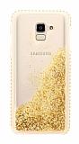 Samsung Galaxy J6 Simli Sulu Gold Rubber Kılıf