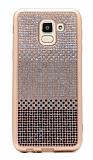 Samsung Galaxy J6 Taşlı Geçişli Siyah Silikon Kılıf