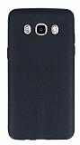 Samsung Galaxy J7 2016 Deri Desenli Ultra İnce Siyah Silikon Kılıf