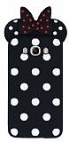 Samsung Galaxy J7 2016 Fiyonklu Siyah Silikon Kılıf