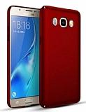 Samsung Galaxy J7 2016 Tam Kenar Koruma Kırmızı Rubber Kılıf