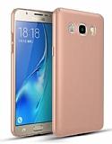 Samsung Galaxy J7 2016 Tam Kenar Koruma Rose Gold Rubber Kılıf