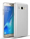 Samsung Galaxy J7 2016 Tam Kenar Koruma Silver Rubber Kılıf