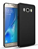 Samsung Galaxy J7 2016 Tam Kenar Koruma Siyah Rubber Kılıf