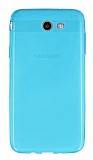 Samsung Galaxy J7 2017 Ultra İnce Şeffaf Mavi Silikon Kılıf