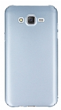 Samsung Galaxy J7 Tam Kenar Koruma Silver Rubber K�l�f