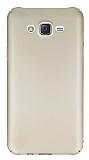 Samsung Galaxy J7 Tam Kenar Koruma Gold Rubber K�l�f