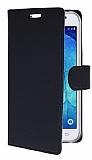 Samsung Galaxy J7 / Galaxy J7 Core Cüzdanlı Yan Kapaklı Siyah Deri Kılıf