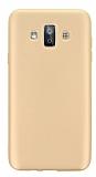 Samsung Galaxy J7 Duo Mat Gold Silikon Kılıf