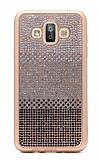 Samsung Galaxy J7 Duo Taşlı Geçişli Siyah Silikon Kılıf