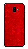 Samsung Galaxy J7 / Galaxy J7 Core Desenli Silikon Kenarlı Kırmızı Rubber Kılıf
