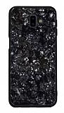 Samsung Galaxy J7 / Galaxy J7 Core Desenli Silikon Kenarlı Siyah Rubber Kılıf