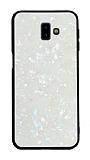 Samsung Galaxy J7 / Galaxy J7 Core Desenli Silikon Kenarlı Beyaz Rubber Kılıf