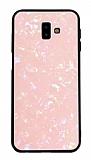 Samsung Galaxy J7 / Galaxy J7 Core Desenli Silikon Kenarlı Pembe Rubber Kılıf