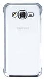 Samsung Galaxy J7 / Galaxy J7 Core Silver Kenarlı Şeffaf Rubber Kılıf