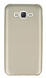 Samsung Galaxy J7 / Galaxy J7 Core Mat Gold Silikon Kılıf