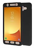 Samsung Galaxy J7 Max 360 Derece Koruma Likit Siyah Silikon Kılıf