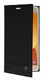 Samsung Galaxy J7 Max Gizli Mıknatıslı Yan Kapaklı Siyah Deri Kılıf