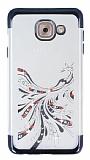 Samsung Galaxy J7 Max Siyah Peacock Taşlı Şeffaf Silikon Kılıf
