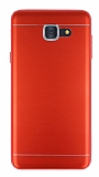 Samsung Galaxy J7 Max Silikon Kenarlı Metal Kırmızı Kılıf