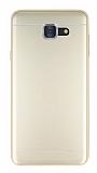 Samsung Galaxy J7 Max Silikon Kenarlı Metal Gold Kılıf