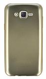 Samsung Galaxy J7 Metalik Gold Silikon Kılıf