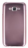 Samsung Galaxy J7 Metalik Pembe Silikon Kılıf