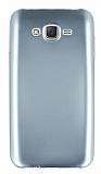 Samsung Galaxy J7 Metalik Silver Silikon Kılıf