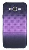Samsung Galaxy J7 Mor Noktalı Ultra İnce Silikon Kılıf