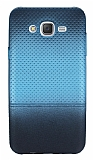 Samsung Galaxy J7 Mavi Noktalı Ultra İnce Silikon Kılıf