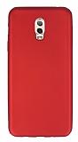 Samsung Galaxy C8 Mat Kırmızı Silikon Kılıf