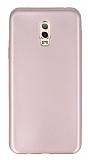 Samsung Galaxy C8 Mat Rose Gold Silikon Kılıf