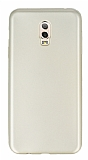 Samsung Galaxy C8 Mat Gold Silikon Kılıf
