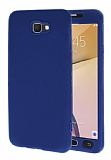 Samsung Galaxy J7 Prime 360 Derece Koruma Likit Lacivert Silikon Kılıf