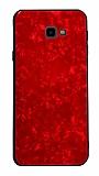 Samsung Galaxy J7 Prime / J7 Prime 2 Desenli Silikon Kenarlı Kırmızı Rubber Kılıf