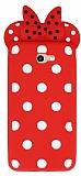 Samsung Galaxy J7 Prime Fiyonklu Kırmızı Silikon Kılıf