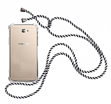 Samsung Galaxy J7 Prime / J7 Prime 2 Çizgili Askılı Şeffaf Silikon Kılıf
