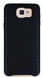 Samsung Galaxy J7 Prime Karbon Görünümlü Siyah Rubber Kılıf