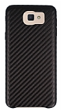 Samsung Galaxy J7 Prime Karbon Görünümlü Kahverengi Rubber Kılıf